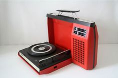 Portable Record Player--I had one similar to this... It was blue.