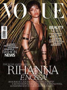 Rihanna graces the cover of Vogue Brasil May 2014 Issue. Famous singer is photographed by Mariano Vivanco for Vogue Brasil anniversary. Rihanna Vogue, Moda Rihanna, Estilo Rihanna, Rihanna Cover, Rihanna Style, Rihanna Fenty, Rihanna Fashion, Rihanna Dress, Rihanna Song