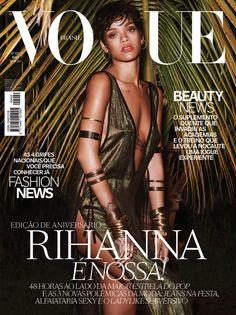 rihanna vogue brazil cover 800x1068 Rihanna Lands Vogue Brazils 39th Anniversary Covers