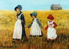 Artist Gloria Butter Donaldson's depiction of Clara, Mary, and Caddie