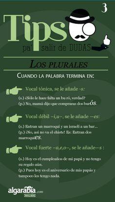 Los plurales (3 de 3).-