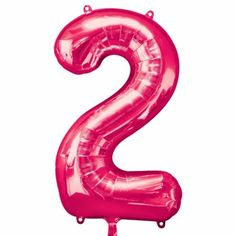 Use a Giant Bright Pink Number 2 Balloon to display an age, anniversary, or year! This foil Giant Bright Pink Number 2 Balloon is great for a custom balloon display at your event or party. Large Number Balloons, One Balloon, Custom Balloons, Gold Balloons, Party Stores, Party Shop, Party City Balloons, Balloon Party, Balloon Display