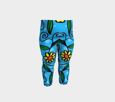 Cartoon Flower Baby Leggings, Baby Leggings by Brittany Bonnell. Artwork in baby friendly sizes on our printed leggings for your little ones. Cartoon Flowers, Shop Art, Baby Leggings, Design Lab, Printed Leggings, Knitted Fabric, Brittany, Little Ones, Youth