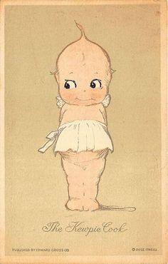 "Rare Rose O'Neil ""The Kewpie Cook"" Kewpie Postcard"