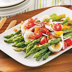 Mates, and egg - recipes caty Egg Recipes, Gluten Free Recipes, Vegetarian Recipes, Healthy Recipes, Salade Caprese, Salad Dressing Recipes, Green Beans, Side Dishes, Favorite Recipes