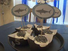 Shark Birthday Kit. $25.00, via Etsy.