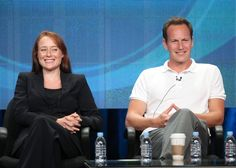 Patrick Wilson Photos Photos - Actors Jennifer Ehle (L) and Patrick Wilson speak during the 'A Gifted Man' panel during the CBS portion of the 2011 Summer TCA Tour held at the Beverly Hilton Hotel on August 3, 2011 in Beverly Hills, California. - 2011 Summer TCA Tour - Day 8