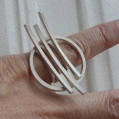 Contemporary stacking Ring OT in silver por andreasschiffler