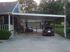 metal carport | Metal Carport Awning Patio Cantilever Cover Swimming Pool South Bexar ...