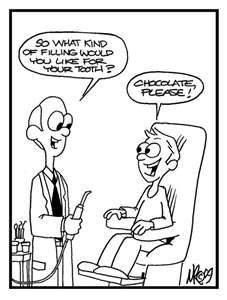 A chocolate filling sounds delicious, but let's save that for dessert. At the Warden Eglinton Dental Centre, we use tooth-coloured fillings. It is practically invisible, giving you a more natural appearance when you smile. www.wedental.ca