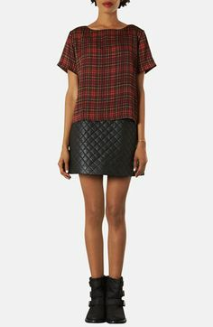 Topshop Quilted A-Line Skirt (Petite) | Nordstrom