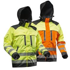Orange Vests, Workwear, Creative Ideas, Motorcycle Jacket, Safety, Patches, Industrial, Fish, How To Wear