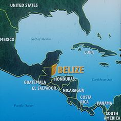 just in case you didn't know where Belize Is