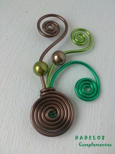 broche fuente tricolor broche fuente tricolor aluminio de bisuteria,cuentas tipo perlas alambrismo