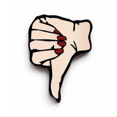 Thumbs Down Brooch