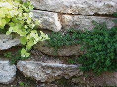 recycled concrete garden retaining walls