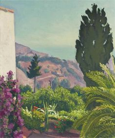 Artwork by Albert Marquet, Le cyprès, printemps, Made of oil on canvas