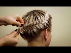 """Прическа из косичек """"Корзинка"""". Hairstyle of braids - YouTube"""