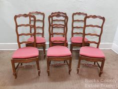 Quality Walnut Country French Set of 6 Ladder Back Rush Seat Dining Chairs   eBay - I love these chairs, especially since they have four rungs (high back), I just wish they were from France and not the U.S....