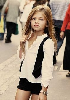 Thylane Blondeau. I love this beautiful child and everything she wears.