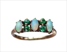 1890s Opal and Green Paste Ring (in the online shop tomorrow)