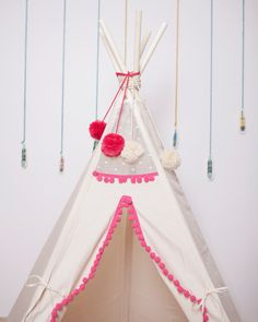 Kids teepee tipi with poles: 5 pole kids children by Minicamplt