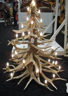 Antler tree, I think this is a chandelier.  Whatever it is, it is huge and amazing!