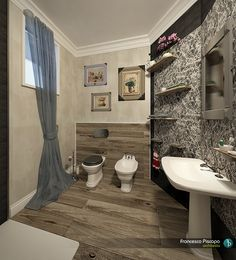 #bathroom #design #rendering project by Architetti PD rendering by FRANCESCO PISCOPO_architetto