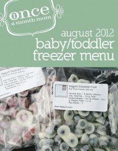 Baby/Toddler Freezer Meals (9-12 Months)
