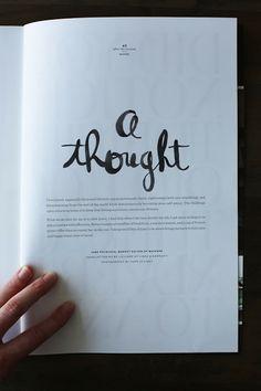 Linda & Harriett: Wayfare Magazine - a lovely blend of hand lettering & watercolor