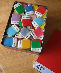 Pantone chip cookies...now that's a new level of dedication to design