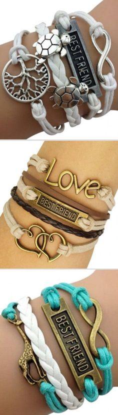 Best Friends Wrap Bracelets ♡ #bff #love