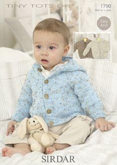 Knitting Pattern Baby cardigans   sirdar 1790   size 0-7yrs  new by Bobbinswool on Etsy