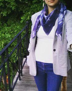 Jeans #burda et foulard teint maison à la teinture #inkodye #mmmay16 #jeportecequejecouds #youpiecestvendredi Plaid Scarf, Jeans, Instagram Posts, Fashion, Tie Dye, Scarf Head, Home, Moda, Fashion Styles