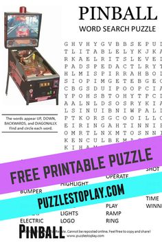 Free Word Search Puzzles, Free Printable Word Searches, Free Printable Puzzles, Free Printables, Game Creator, Pizza Joint, Crossword Puzzles, Puzzle Books, Word Games