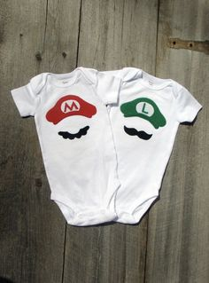 twin onesies - cute!