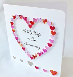 Handmade 3D Anniversary Card Personalised by CardsbyGaynor on Etsy, £3.95