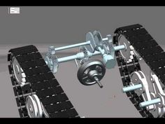 Double Differential Steering System on a MODELCAR - YouTube