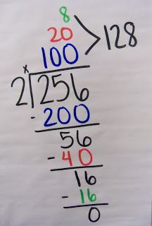 Today we began division. I always suck my kids in by telling them I'm going to teach them how to divide without division. They never believe me, but it doesn't take long for them to figure out where I'm going. We use multiplication to divide! After all, multiplication is way more fun than division, right? ;)  P1