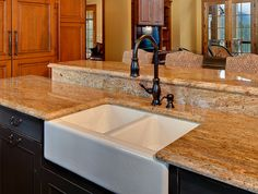 Beautiful custom sink - Design by ACM Design Sink Design, Kitchen Design, European Style Homes, Apron Front Sink, Kitchens, Projects, Home Decor, Beautiful, Log Projects