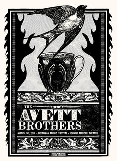 Avett Brothers | Status Serigraph | March 2011 - Savannah #THERE