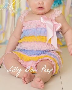 Baby Girl Clothes - Pastel Rainbow Lace Petti Romper -Preemie-Newborn-Child-Toddler-Baby Girl-Easter Outfit-Easter Dress-Flower Girl-Wedding by LillyBowPeep on Etsy https://www.etsy.com/listing/225407897/baby-girl-clothes-pastel-rainbow-lace