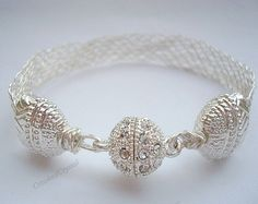 Bracelet Silver Star Flat Kumihimo Braided by CrookedCrystal, $27.99