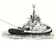 Tugboat Arthur Foss by James Williamson - Tugboat Arthur Foss Drawing - Tugboat Arthur Foss Fine Art Prints and Posters for Sale
