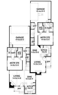 plan 62610dj modest ranch duplex house plan duplex plans in 2018