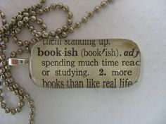 A nice necklace for the bookish.