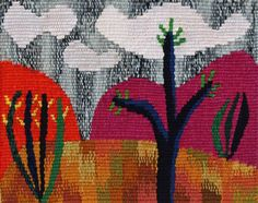 Liza Collins - artisan is taking this opportunity to show again the wonderful tapestries and paintings by Liza Collins. Her work is literary a rich tapestry of colours and bold designs reflecting the landscape of her adopted home, Texas.
