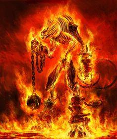 Fire Monster by sva on DeviantArt Fantasy Monster, Monster Art, Fantasy Beasts, Fantasy Art, Anime Fantasy, Mythical Creatures Art, Fantasy Creatures, Myths & Monsters, World Of Darkness