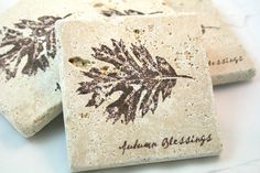 stamping on tumbled tiles