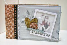 sweet little album---great pages Mini Albums Scrap, Mini Scrapbook Albums, My Scrapbook, Fashion Victim, E Craft, Travel Album, Memory Album, Album Book, Album Photo